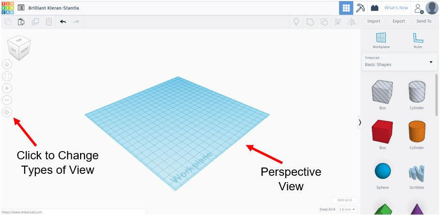 TinkerCAD Tutorial: Perspective View