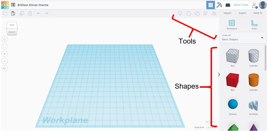 TinkerCAD Tutorial: TinkerCAD Shapes and Tools
