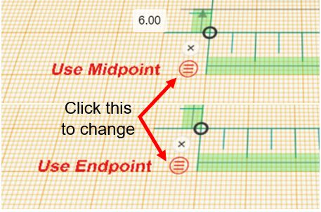 TinkerCAD Tutorial: Change to Midpoint (Top) and Endpoint (Bottom)