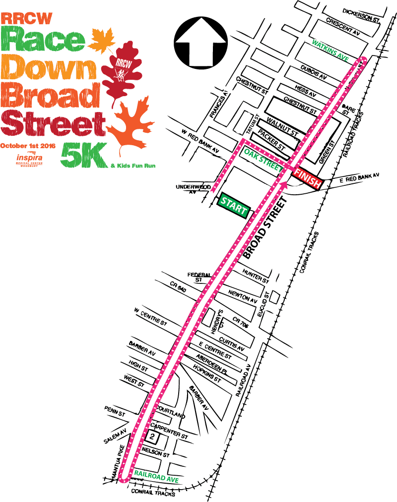RRCW Race Down Broad Street Course Map