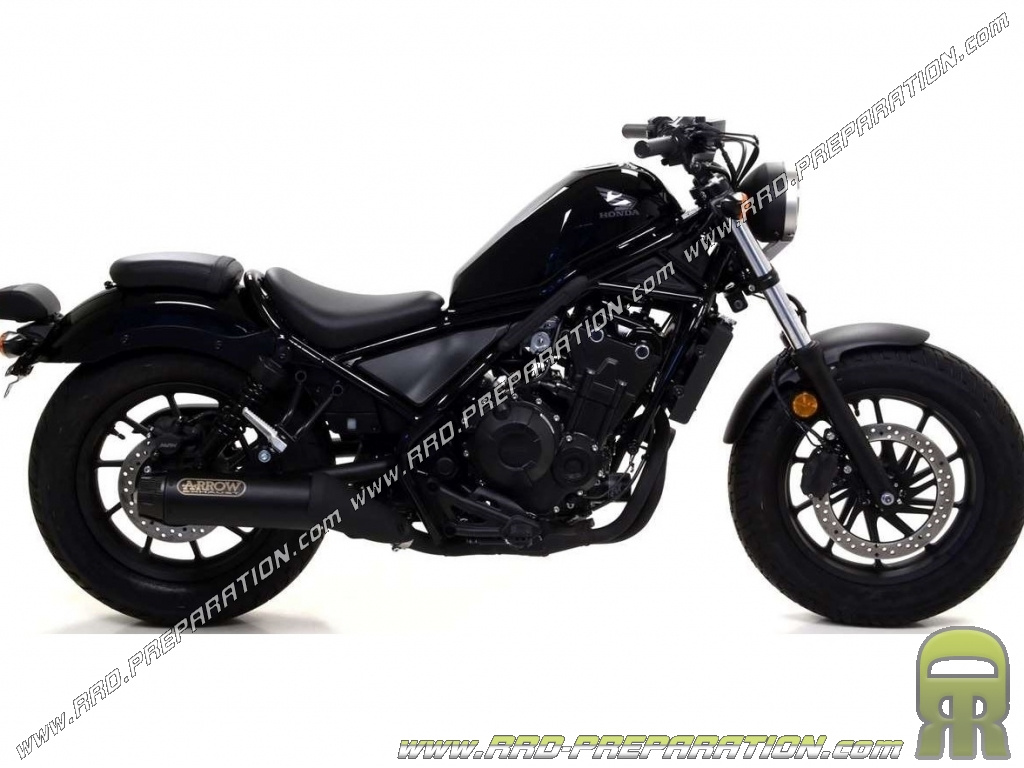arrow rebel dark complete exhaust line for motorcycle honda cmx 500 rebel 2017 www rrd preparation com
