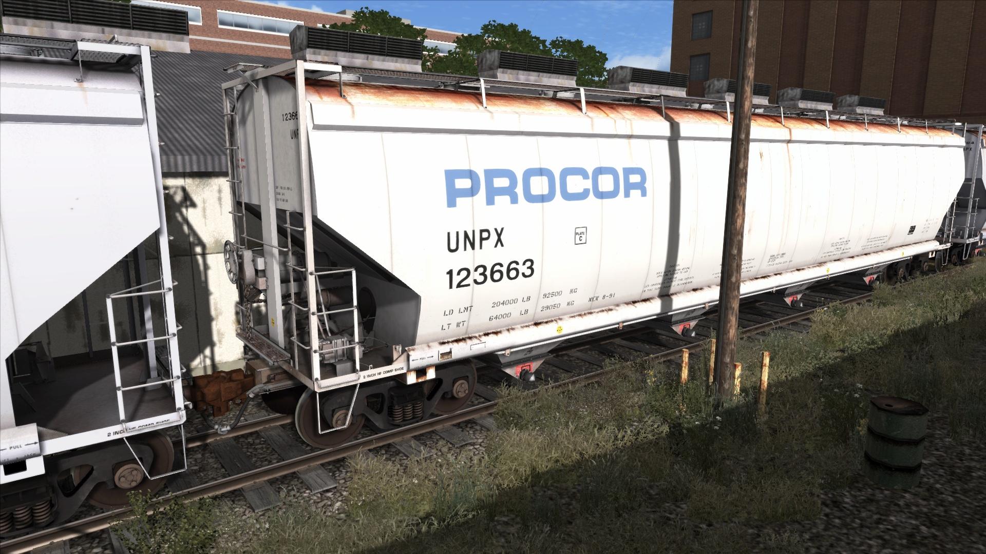 Nsc 5810 Cuft Pellet Hopper Car Railworks Ts2017 Unpx Procor