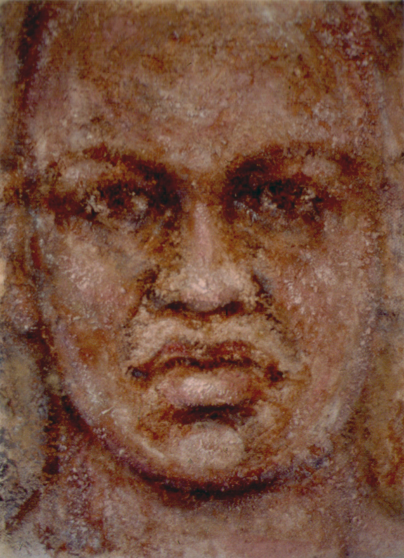 "Yvonne - Soil and Acrylic Polymer on Canvas - 9"" x 12"""