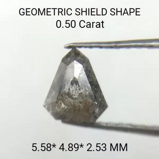 Rose Cut Shield Shape Rustic Loose Diamond