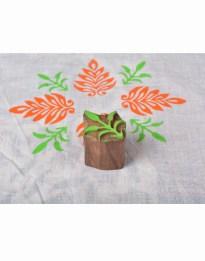 Wooden Stamp Blocks Leaf Designs