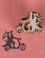 Indian Wooden Printing Blocks Scooter