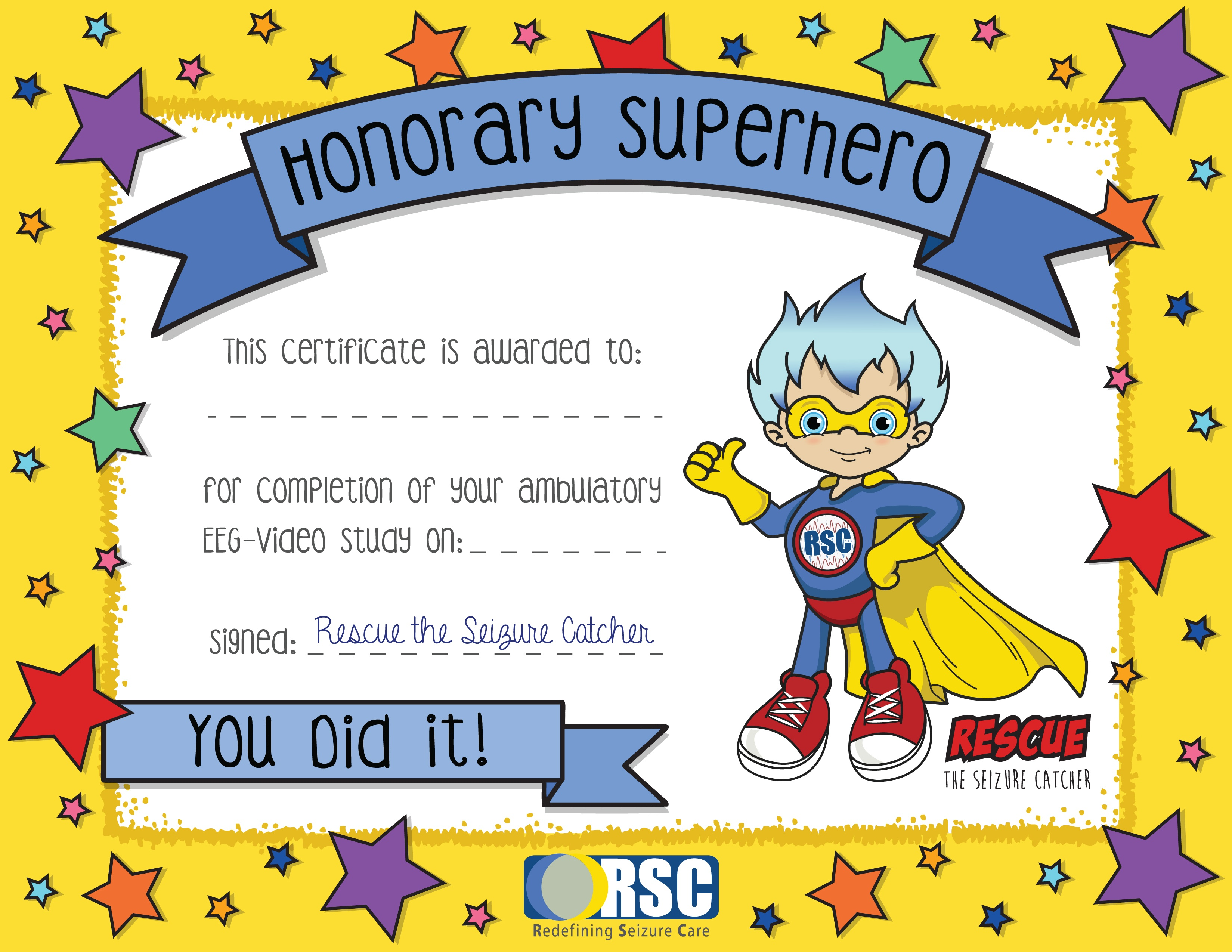 Completion Superhero Certificate