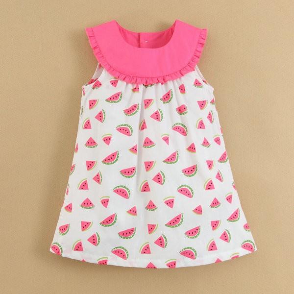 Summer-Woven-Dress-Kids-Clothes-100-Cotton