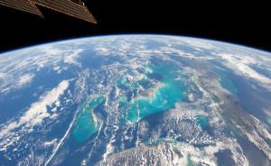 Die Bahama-eilande vanuit die ruimtestasie