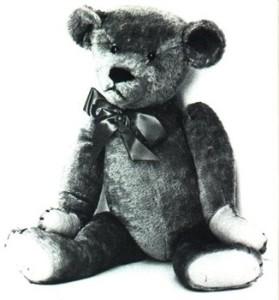 Die eerste teddiebeer, wat in 1903 vervaardig is.