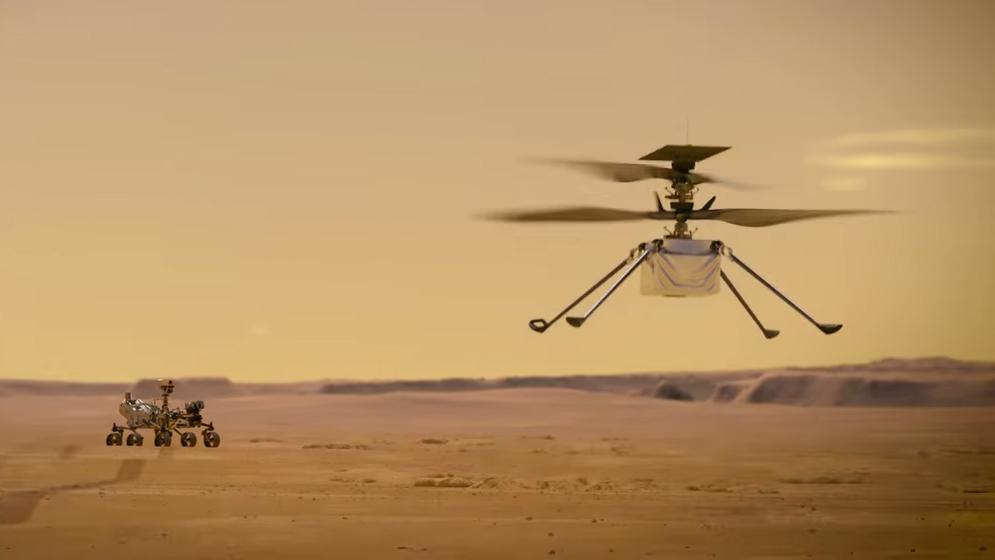 Alle oë op Mars en die Mars helikopter