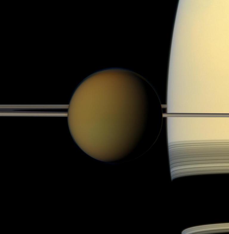 Sending beplan na Saturnus se grootste maan