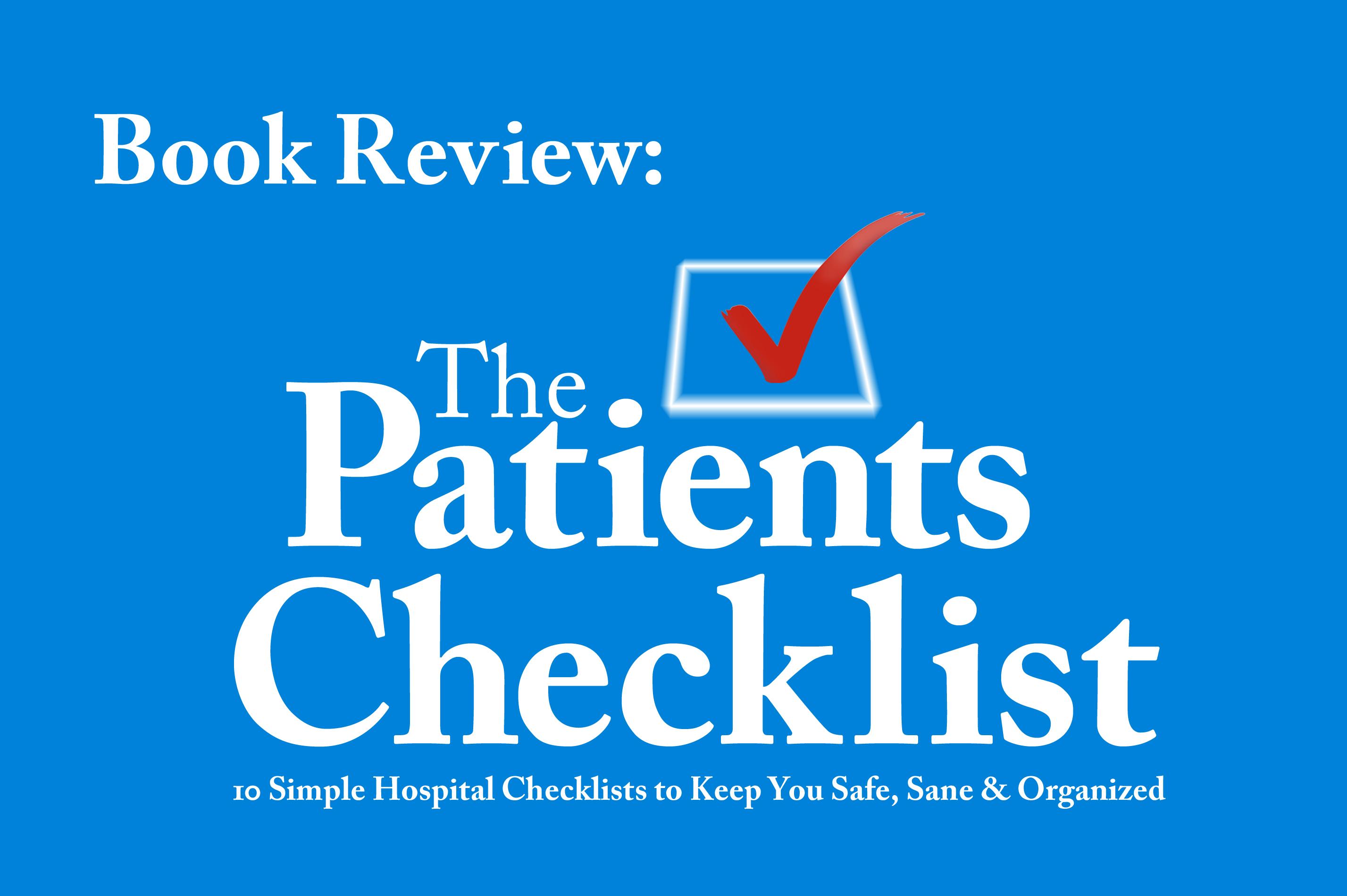 10 Simple Hospital Checklists By Elizabeth Bailey