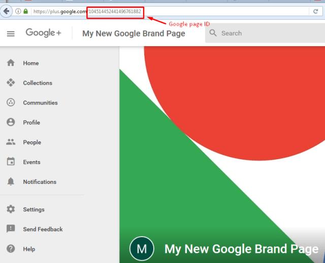 google plus page id