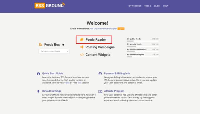 RSS Ground Feeds Reader