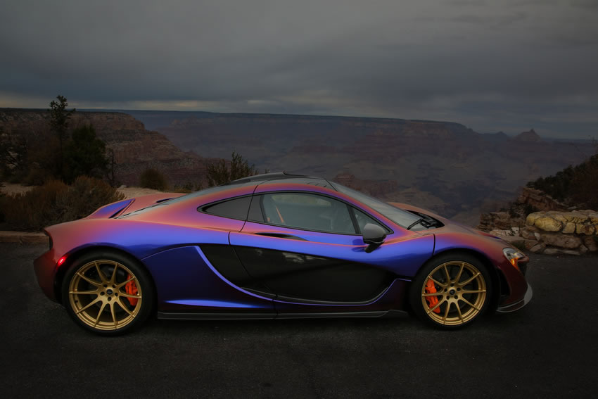 McLaren P1 In Polychromatic Cerberus Pearl Color Side