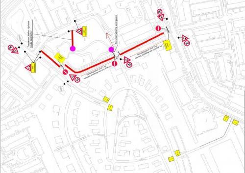 Verkeerscirculatieplan en bebordingen