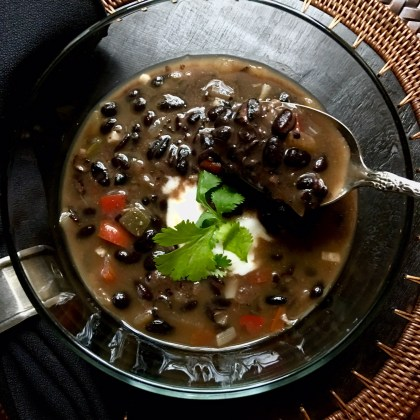 A Hearty Black Bean Soup