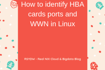 How to identify HBA cards ports and WWN in Linux