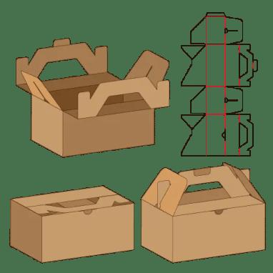 文旦盒水果盒掛耳手提盒盒型