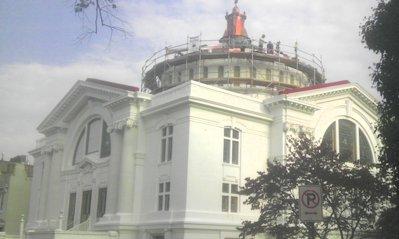 Historic stucco dome repair, Capitol Hill Church ...
