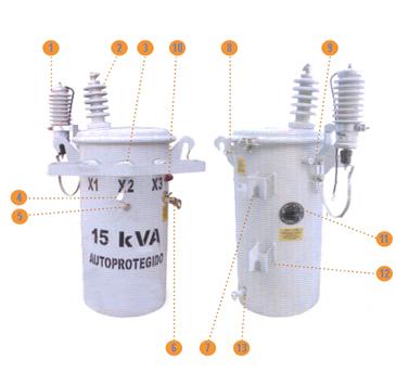 Imagen Transformadores Poste Monofásico Componentes y Accesorios