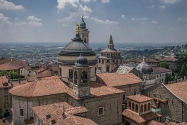 Abside del Duomo e statua di S. Alessandro, patrono di Bergamo