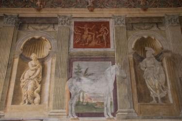 Sala dei Cavalli. Giulio Romano. Palazzo Te. Particolare