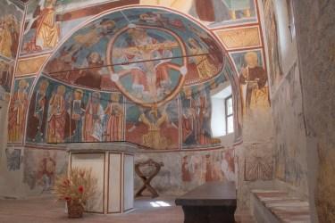 Oratorio della SS. Trinità. Momo. Particolare dell'abside