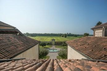 Vista dalla lanterna del tiburio. Villa Picchetta. Cameri