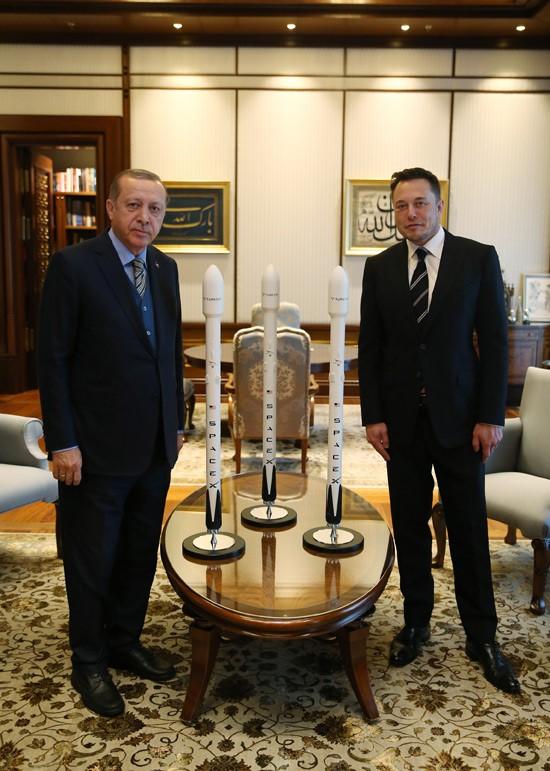 Recep Tayyip Erdogan met Elon Musk