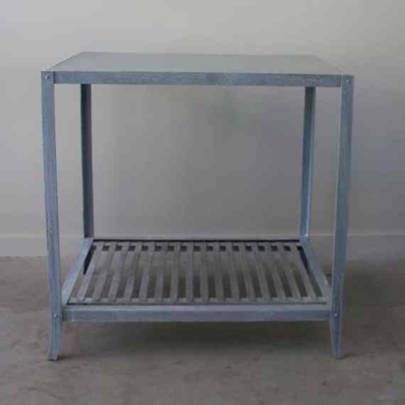 zinc kitchen island