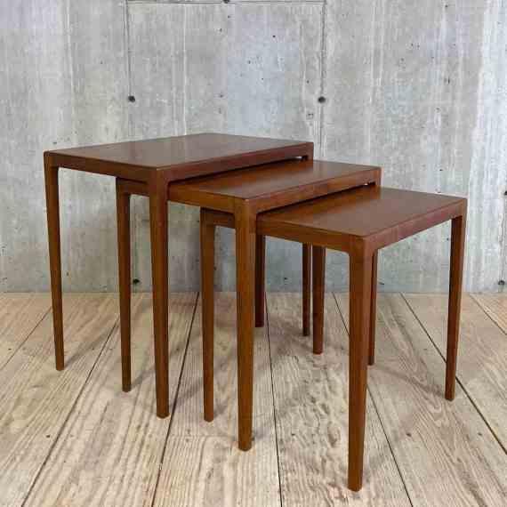 WEB Set of Three Nesting Tables by Ludvig Pondoppidan – 1