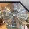 60 Octagonal Bullseye Mirror, Distressed Glass Panels – 4