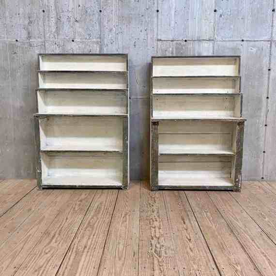 Near Pair of Antique Painted Stepped Shelves – 2