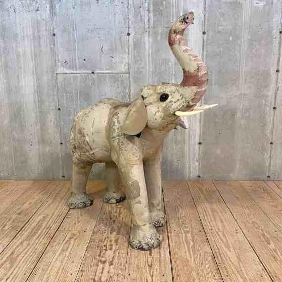Large Vintage Paper Mâché Elephant – 1