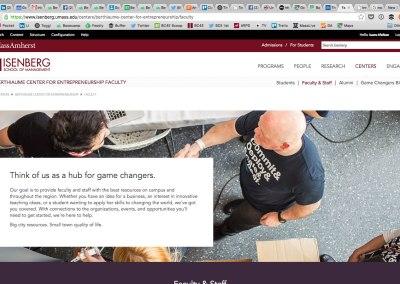 Berthiaume Center for Entrepreneurship Website & Digital Strategy