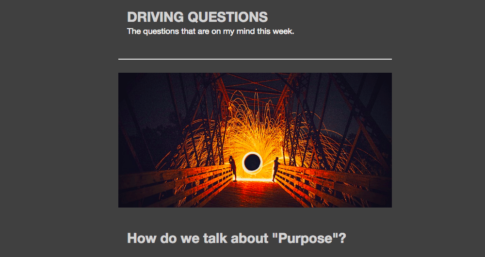 Driving Questions Launches