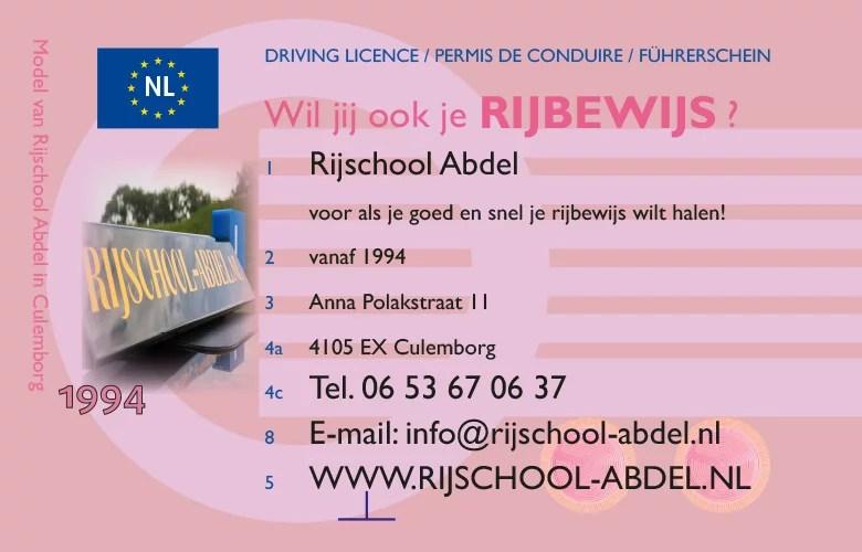 Rijschool Abdel Culemborg