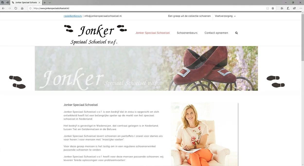 Een website voor een schoenenspecialist