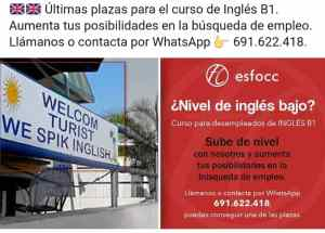 Últimas Plazas Curso Inglés B1