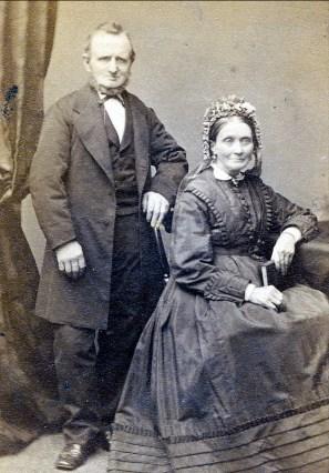 1860, approx Johannes Christiaan Bensdorp (1817-1875) et Catherine Scholten (1818-1886) parents de Johanna Bensdorp Moe