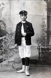 1905, Frans der Kinderen - fanfare du gymnase - il joue du tambour et de la trompette