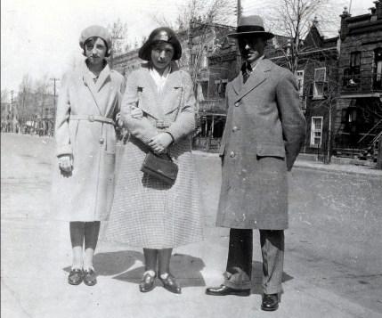 1931, Jeanne, Germaine et François de Kinder