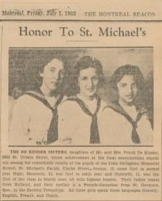 1932-3 soeurs The de Kinder sisters