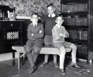 1933, Robert, Louis et Maurice de Kinder