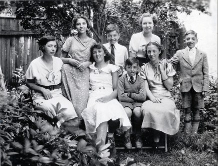 1935, famille de Kinder et Rita Fournier