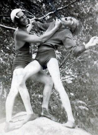 1936, Albert Thivierge donne un upper cut à son cousin Robert Thivierge