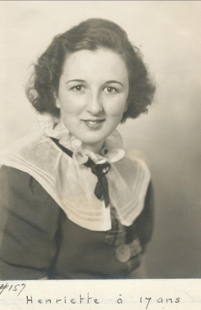1936, Henriette à 17 ans
