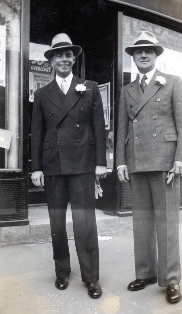 1940, 25 mai, Albert et son père Horace Thivierge